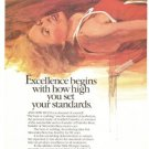 Mercedes Benz Salute to Excellence High Jumper 2-page Vintage Ad 1984 Olympics