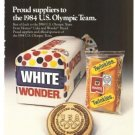 Wonder Hostess Bakery People of ITT Vintage Ad 1984 Olympics