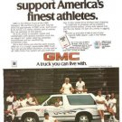 GMC Official Truck S-15 Jimmy Limited Edition Vintage Ad 1984 Olympics