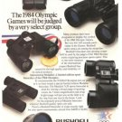 Bushnell Bausch Lomb Sports Optics Binoculars Spotting Scopes Vintage Ad 1984 Olympics