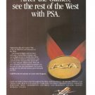 PSA Airlines that won the west Vintage Ad 1984 Olympics