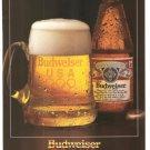 Budweiser Proud Sponsor Beer Vintage Ad 1984 Olympics
