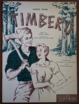 Songs From Timber Claman Savage Nixon 1952 Songbook Sheet Music