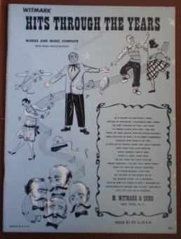 Witmark Hits Through The Years 1951 Songbook Sheet Music