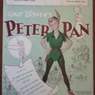Peter Pan Sheet Music Your Mother and Mine Walt Disney 1951 Cahn Fain