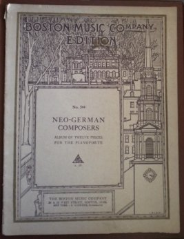 Boston Music Co 344 Neo German Composers Songbook Sheet Music
