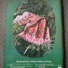 Springmaid Towels Pastorale Ensemble Flower Child Vintage Ad 1968