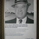 Delta Airlines Bob Hope Private Navy Sgt O Farrell 1968 Vintage Ad