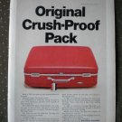 American Tourister Original Crush Proof Pack Red Luggage Vintage Ad 1968