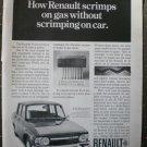 Renault 10 Scrimp on Gas 35mpg 1968 Vintage Ad