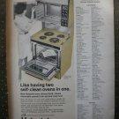 Hotpoint Hallmark Hi Lo Harvest Self Clean Oven  1968 Vintage Ad