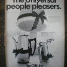 Universal Gift Line Coffeematic Mixer Hair Dryer 1968 Vintage Ad