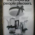 Universal Gift Line Coffeematic Mixer Hair Dryer 1968 Vintage Ad