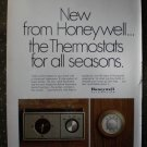 Honeywell Clock Thermostat Automation Vintage Ad 1968