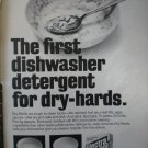 Electra Sol Automatic Dishwasher Detergent 1968 Vintage Ad