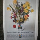Fuller Paints Spring Colors Flowers Vintage Ad 1968