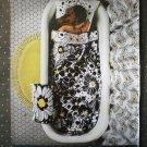 Fieldcrest Pow Flowers Sheets Bathtub Vintage Ad 1968