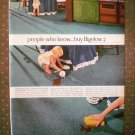 Bigelow Weather Tuff Indoor Outdoor Carpet Vintage Ad 1968