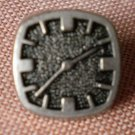 Clock Sewing Button Silver Square Small Plastic Lot 5 Watch