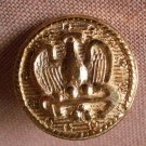 Sewing Button Round Eagle Arrow Button Gold 1.9cm Self Shank Lot 4