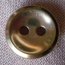 Sewing Button Round Plain Gold 2-hole Metal 12mm Lot 8