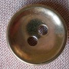 Sewing Button Round Plain Gold 2-hole Metal 15mm Lot 6
