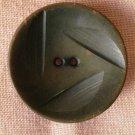 Large Plastic  Button Gray 2-hole Concave Vintage Carved