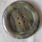 Large Plastic Button Tortoise Shell Brown 2-hole Vintage