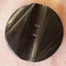 Large Plastic Button Black 2-hole Z Geometric Art Deco 28mm