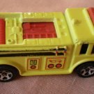 Hot Wheels Fire Truck 1976 Yellow Malaysia Mattel