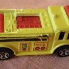 Hot Wheels Fire Truck 1976 Yellow Malaysia Mattel