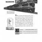 General Motors Diesel Power Railroad War Bonds Vintage Ad 1944