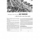 San Francisco When Fleet Comes Home Vintage Ad 1944