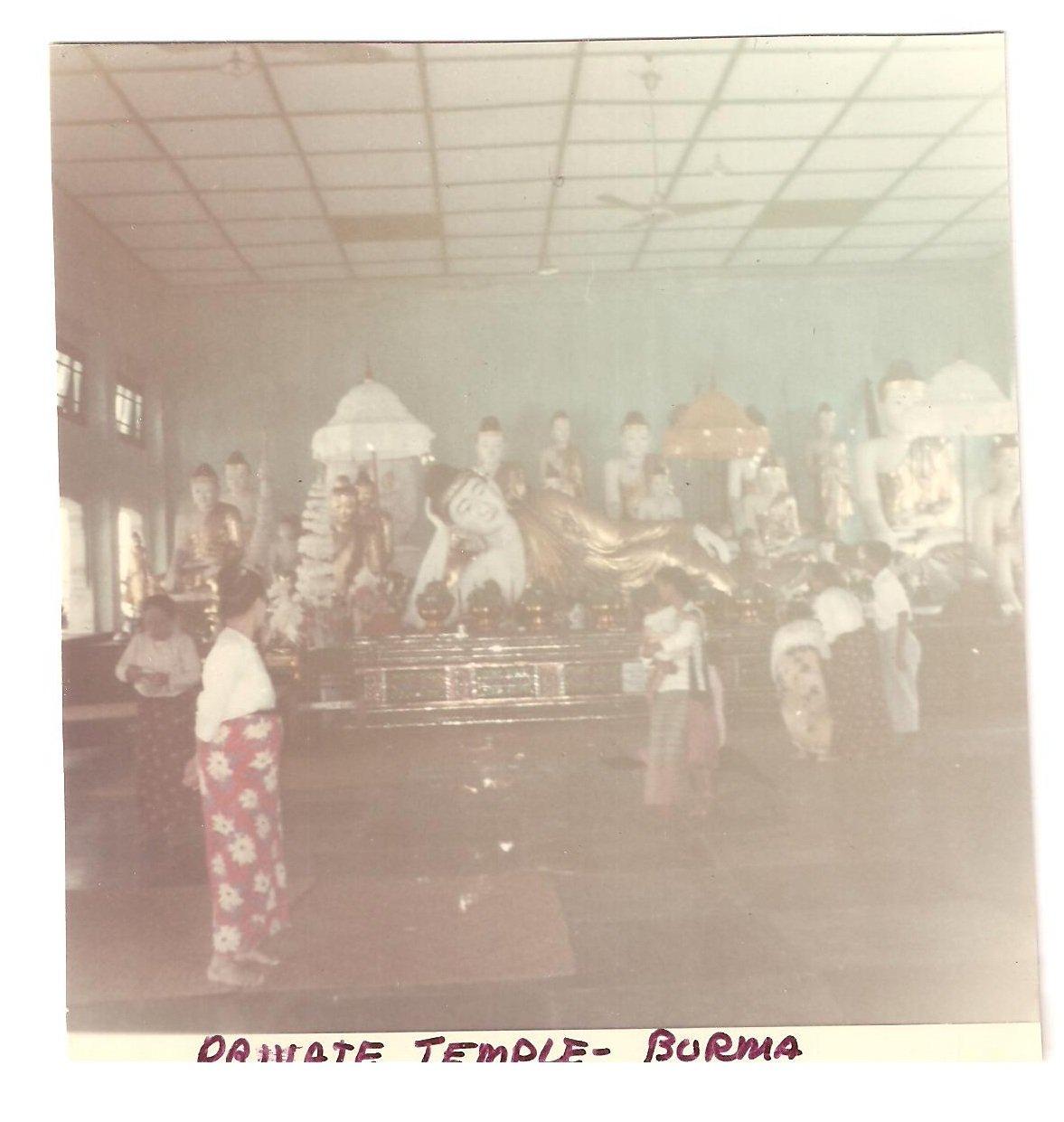 Vintage Photograph Burma Private Temple 1968 Myanmar