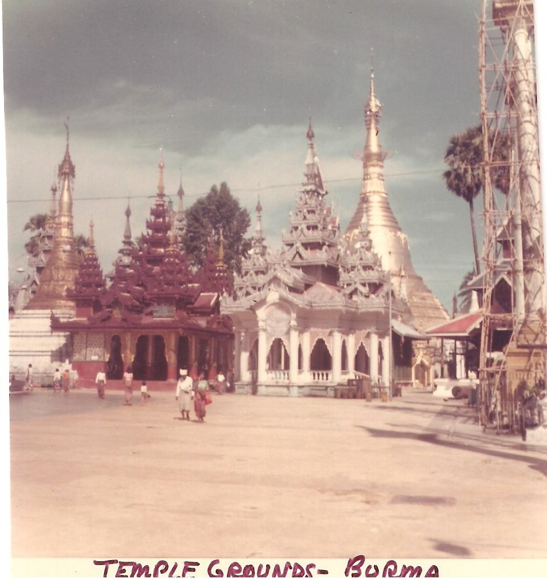 Vintage Photograph Burma Temple Grounds 1968 Myanmar