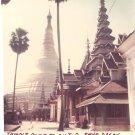 Vintage Photograph Burma Temple Complex Top Shwe Dagon 1968 Myanmar