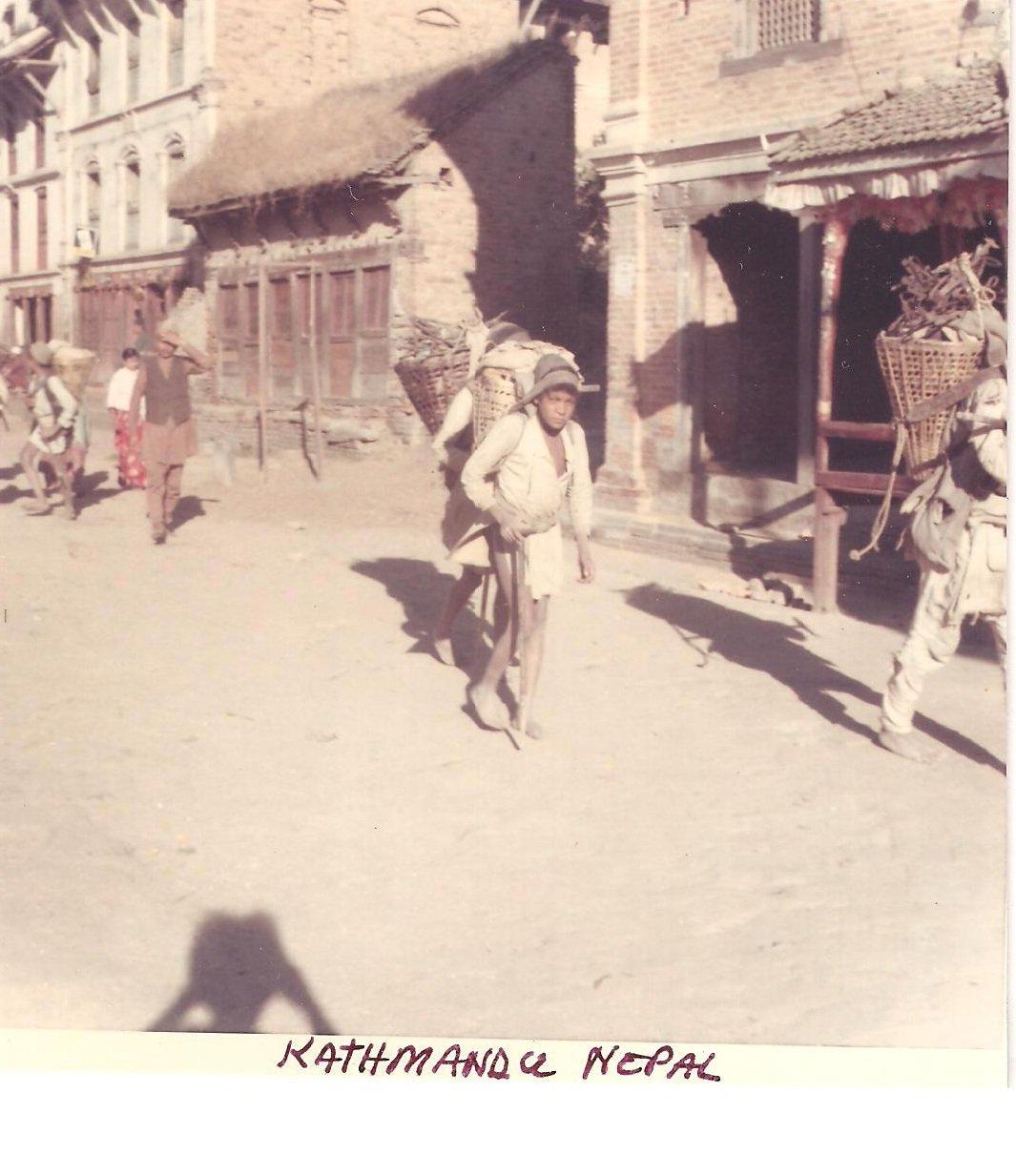 Vintage Photograph Walking Vendors Streets Kathmandu Nepal 1968