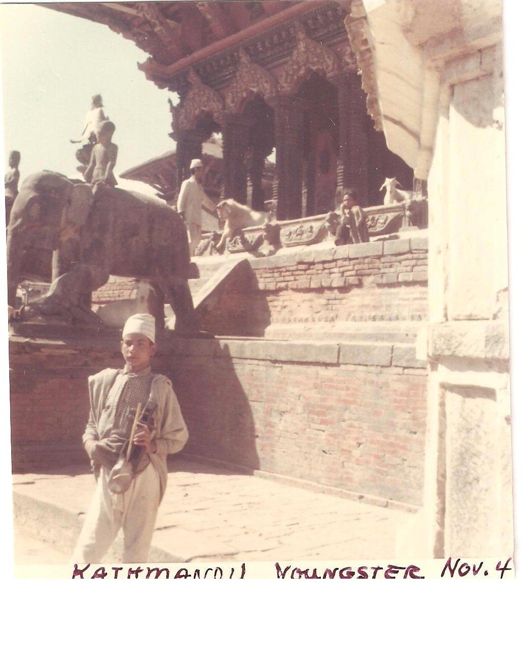 Vintage Photograph Young Man Boy Kathmandu Nepal 1968
