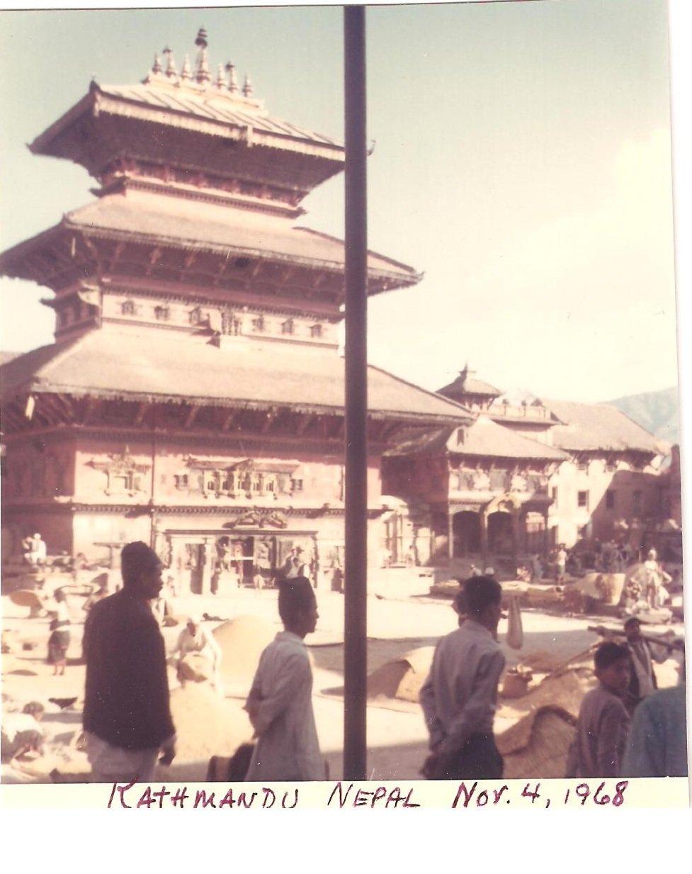 Vintage Photograph Temple Kathmandu  Nepal 1968