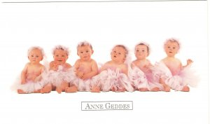 Anne Geddes Postcard 1995 605-099 Baby Ballerina Tutu Ballet 4x6