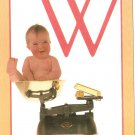 Anne Geddes Postcard 1995 605-076 W is for Weighing Baby 4x6