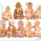 Anne Geddes Postcard 1995 605-088 9 Bonnet Baby 4x6