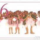 Anne Geddes Postcard 1995 605-085 6 Bouquet Ballerina Baby 4x6