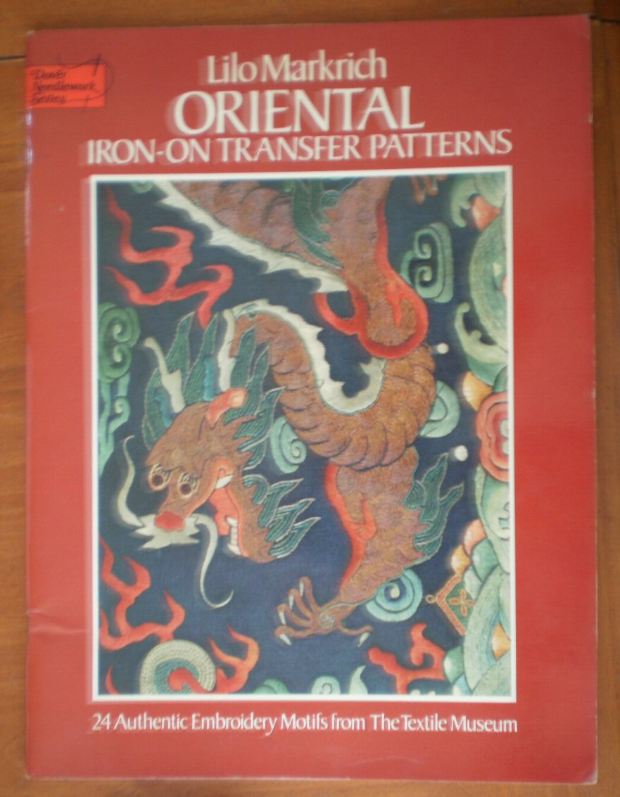Oriental Iron On Transfer Patterns Lilo Markrich Book Embroidery Motifs