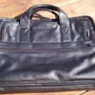 Tumi Black Leather Laptop Bag Case Computer Notebook Briefcase