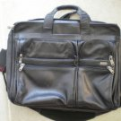 Tumi Black Leather Briefcase Attache Case Bag Expandable Brief Alpha 96061D4