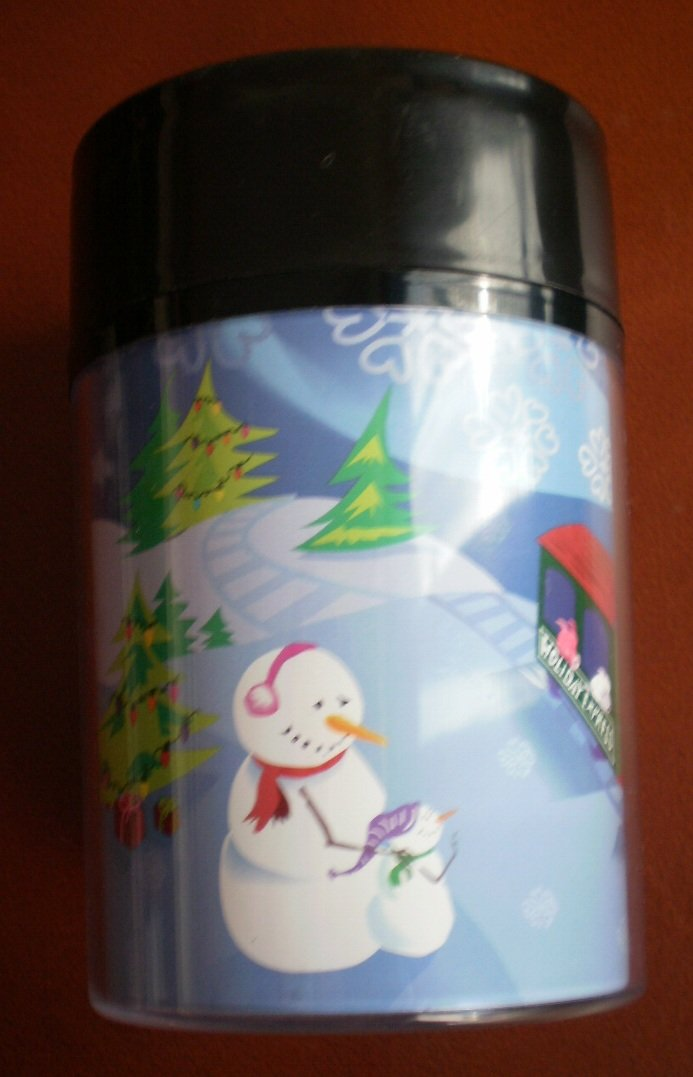 Starbucks 2001 Christmas Cup 8oz Plastic Tumbler Train Snowman
