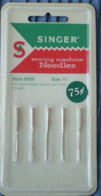 Singer Sewing Machine Needles 2020 Size 11 NOS C402 5/pack