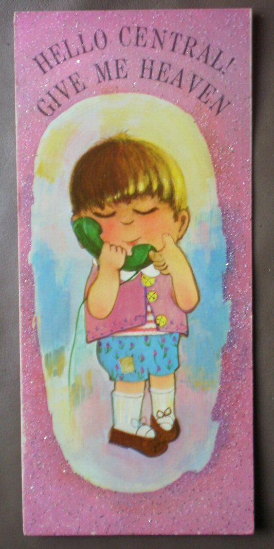 Lovables Card  Vintage Greeting Friendship Love Telephone 35C3456 Happiness