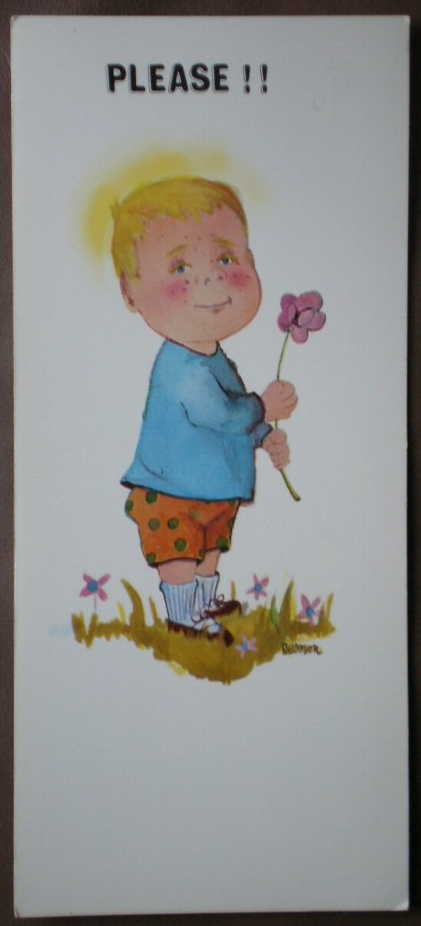 Happiness Cards Vintage Greeting Please Love Me 25C395